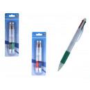 Penna a sfera multicolore 15 cm - set di 2