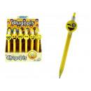 Großhandel Stifte & Schreibgeräte: Kugelschreiber mit blauer Mine und gelbem Smiley