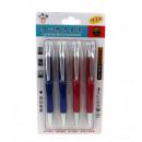 Ensemble de stylos flashés bleu 4 pièces