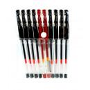 Penne gel (nero, rosso) - set di 10 pezzi