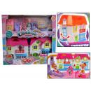 wholesale Toys: Dollhouse +  furniture + 2 dolls 39x36x7 cm