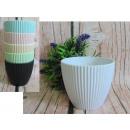 Pot à fleurs, boîtier floral, plastique, rayures p