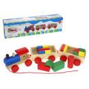 Dr drewniana zabawka ciuchcia, pociąg z klockami 3