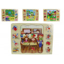 Dr fa puzzle játék, kirakós játék 30x22 cm