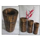 groothandel Bloemenpotten & vazen: Dr. vazen, emmers,  houten kunst set van 3 (n