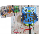 Wooden game owl maze with balls 15,5x14 c