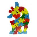 grossiste Blocs & Construction: Puzzle en bois, blocs, puzzle girafe 26x16c