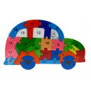 Fa puzzle, építőkockák, rejtvények auto 24x15 cm