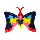 wholesale Blocks & Construction: Wooden puzzle,  blocks, puzzle butterfly 22x15 cm