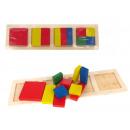Großhandel Puzzle: Holzlogik Puzzle Formen 27x7,5 cm