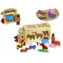 Drewniana zabawka auto ciężarowe sorter zwierzaki