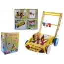 Drewniana zabawka pchacz, wózek stukający 39x35x29