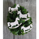 Wooden ponies white 7x5 cm set of 4 pieces