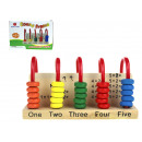 groothandel Speelgoed: Houten telraam, 15x1 tellende leermachine