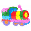 wholesale Toys: Wooden ccuchcia puzzles, locomotive 25x18 cm