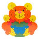 Wooden puzzle bear, bowl 21x22 cm