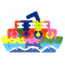 Großhandel Holzspielzeug: Holzpuzzle Schiff 26x17 cm