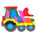 nagyker Játékok: Fa puzzle traktor 26x19 cm