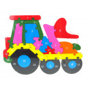 Großhandel Holzspielzeug: Holzpuzzle Traktor 26x19 cm