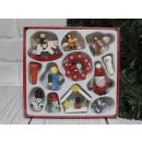 nagyker Otthon és dekoráció: Fa karácsonyfa díszek 12 elem egy kartonban