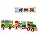 Treno in legno con blocchi