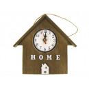 grossiste Horloges & Reveils: Horloge maison en  bois maison Vintage (20x20 cm)