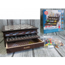 Wooden game set 10in1 - drawers in a cardboard box