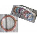Dekoratív huzal 3 m vastag 1 mm keverék színe - 1