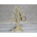 grossiste Bijoux & Montres: Arbre bijoux en bois 26x25 cm