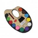 grossiste Fournitures scolaires: Peinture scolaire sur une palette de 12 couleurs +