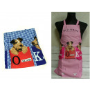 wholesale Working clothes: Apron, apron with dogs 69x70 cm