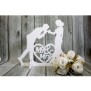 wholesale Figures & Sculptures: Figure young white wedding couple 56x22x48.5 cm (c