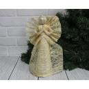 Statuetta natalizia angelo di paglia di 30 cm