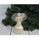 Statuina natalizia Angelo di paglia 16 cm -