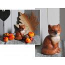 Großhandel Home & Living: Keramikfigur im Herbst 11,5 cm Füchse (102831)