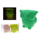 wholesale Illuminants: Ceramic figure led 8 cm owl color mix