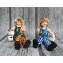 Großhandel Figuren & Skulpturen: Figurine Keramik  Frühling Gärtner Mix 14,5x6 cm