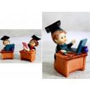 wholesale Figures & Sculptures: Figurine boy, girl student sitting at
