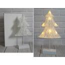 Karácsonyfa figura 40x22 cm LED-en alapul