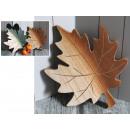 Statuina in legno foglia d'autunno mix di colo