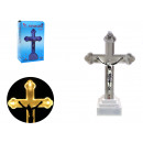 Figurine croix à led 12x5x3,5 cm - blanc chaud