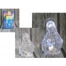 Figurine batterie LED maria 12x6x4 cm