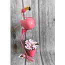 Metal garden figurine flamingo with a 45 cm cover
