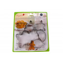 wholesale Casserole Dishes and Baking Molds: Molds for cookies  6 pieces on a blister 15x15 cm