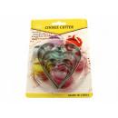 groothandel Bakken: Heart cookie  cutter set van 5 stuks