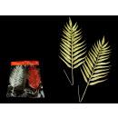 groothandel Kunstbloemen: Takje, blad  glitter kunst set van 2 kleuren mix
