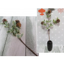 wholesale Artificial Flowers: Twig leaves with 3 cones 70 cm (224962)