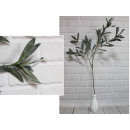 wholesale Artificial Flowers: Artificial twig green leaves, 4 stems 95 cm