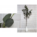 wholesale Artificial Flowers: Artificial twig green leaves 6 stems 80 cm