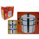 wholesale Pots & Pans: Pot set for steaming 4 element 28 c